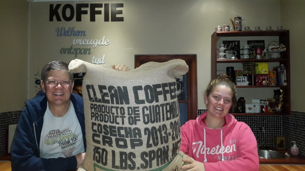 Our first coffee purchase!